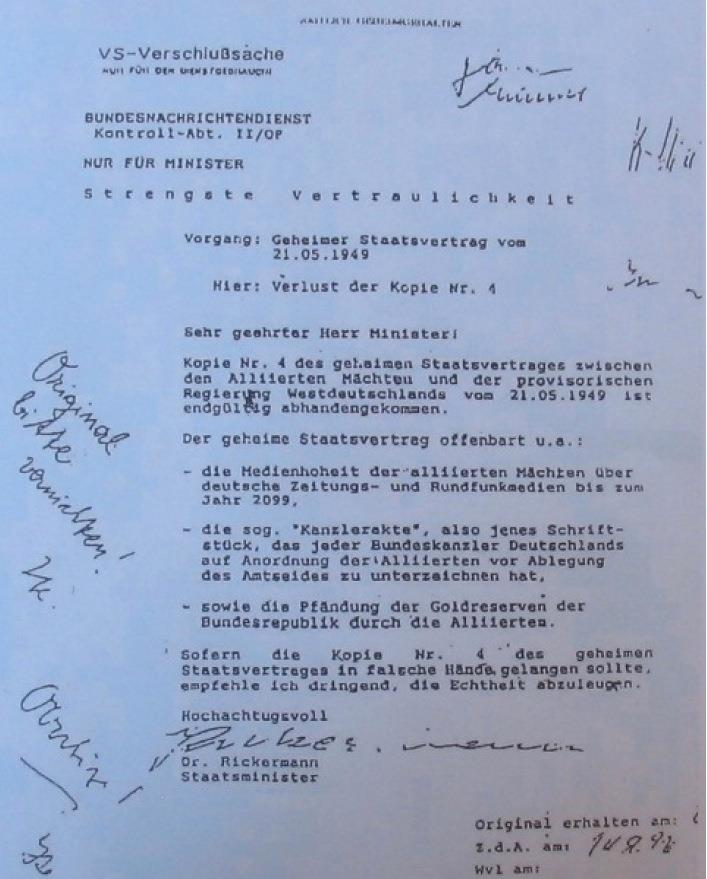 Documento 4 del Trattato segreto Germania USA
